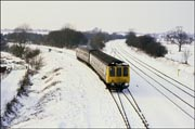 A snowy scene at Hatton Station Junction
